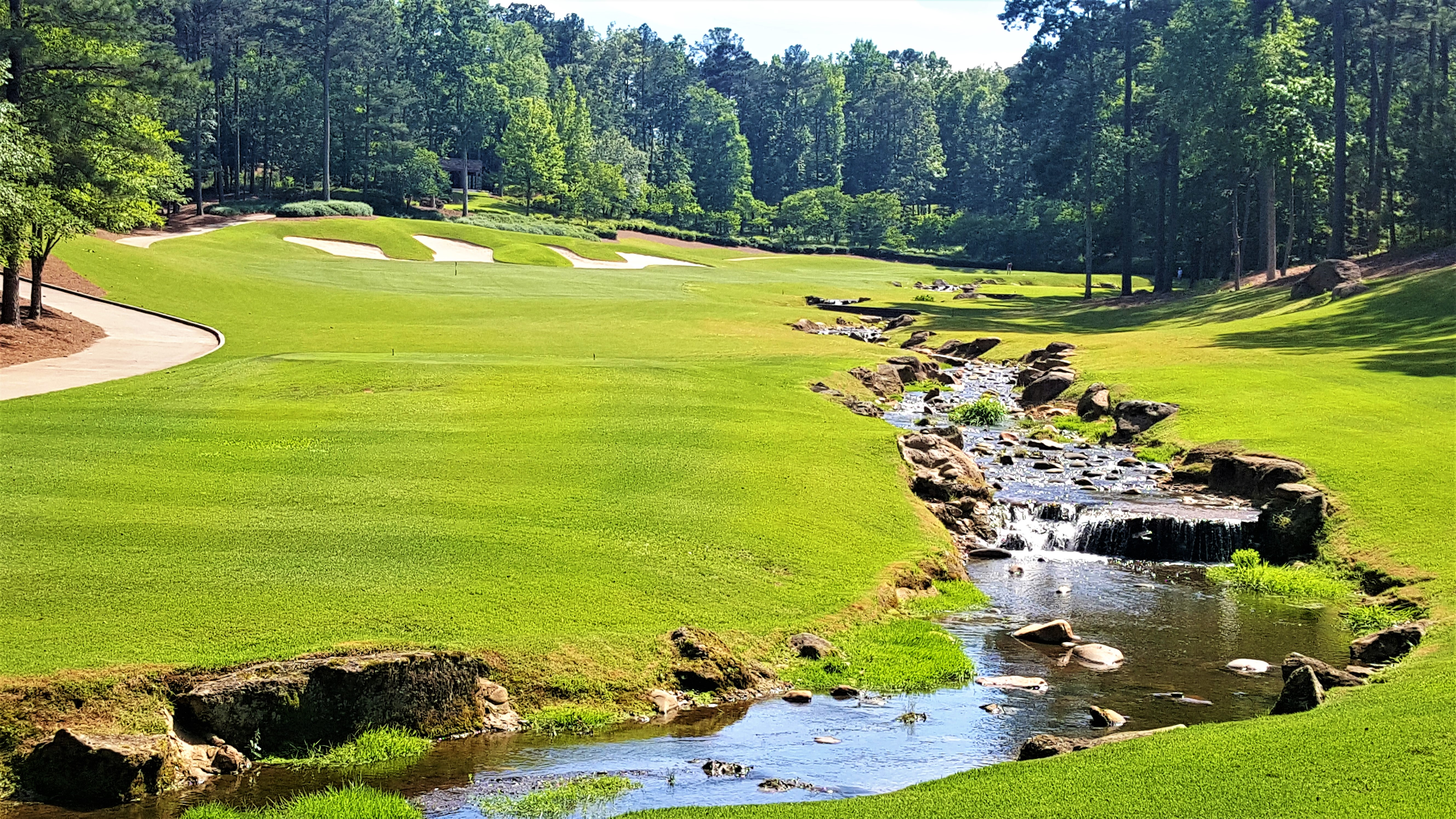 View from the 1st Tee on The Oconee Course