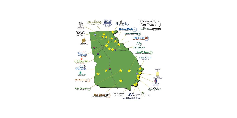 Callaway Gardens Georgia Map.Georgia Golf Trail Georgia Golf Trail Golf Packages